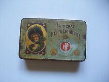 alte Zigarettendose- Blechdose Prinzess Nefta Cigarette , Lady Tin , um 1910