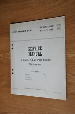 HMV 1500, Marconiphone 890 6 valve Radiogram Genuine Service Manual