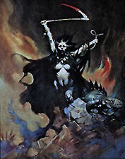 "Woman with a Scythe- Frank Frazetta Print/Poster-Vintage 18""x23"" Rolled (FZ-2-5)"