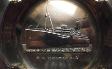 Old White Star Line Art Deco Ship in Relief MV Britannic Pin / Ash Tray B