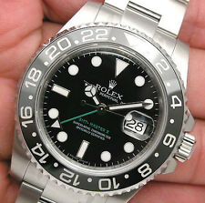 NEW Mens Rolex GMT MASTER II Steel 116710 LN Black Dial 40MM Ceramic Bezel 2016