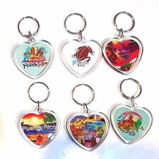 LOT OF 6 Puerto Rico HEART Key Chain Holder Souvenirs Rican holder WHOLESALE
