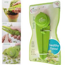 Kitchen Scissors Herb Cutter Multi Use Green Sharp Snip Strip Portable Plastic