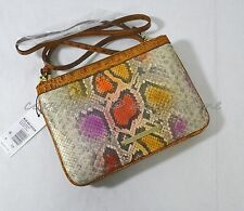NWT! Brahmin Perri Crossbody/Shoulder Bag in Dark Rum Sol - Multicolor