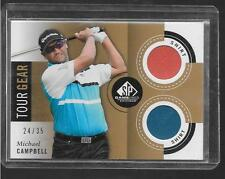 2013 SP Game Used Golf - MICHAEL CAMPBELL - Tour Gear Dual Shirt - PGA #d 24/35