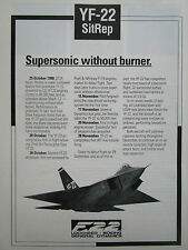 12/1990 PUB LOCKHEED GENERAL DYNAMICS BOEING YF-22 SUPERSONIC FIGHTER USAF AD