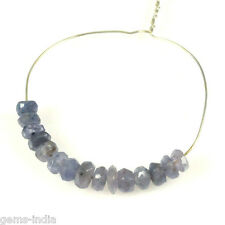 Natural Faceted Drilled 3mm-4mm 15 Pcs Tanzanite Rondelle Beads Demi Strand qty