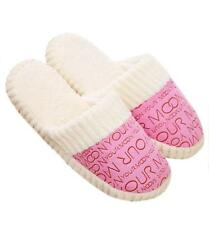 New Women Soft Warm Indoor Cotton Slippers Home Anti-slip Shoes Pink L