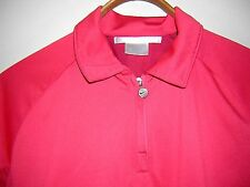 Nike Golf Dri Fit Shirt Womens Size Small Coral Salmon Pink Decorated Back