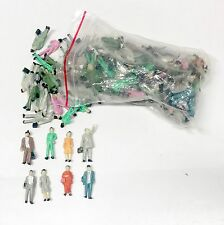 Bulk lot of 100 Ho Scale Painted People Figures Model Train 1:87 1/87