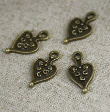 100 pcs antique bronze charme antique coeur wholesale