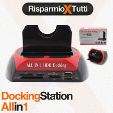 "DOCKING STATION HARD DISK COMBO SATA IDE 2,5"" 3,5"" LETTORE HD BOX CASE"