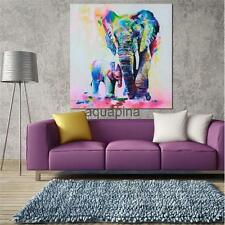Canvas 20cm Home Decor Wall Artwork Painting Picture Elephants Gift No Frame
