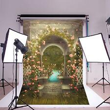 5x7ft Castle Garden Flower Studio Wedding Photo Background Photography Backdrops