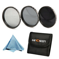 77mm Neutral Density Filter Kit ND2 ND4 ND8 ND for Canon Nikon DSLR Camera Lens