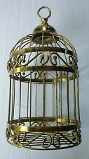 Gold Metal Brass Decorative Filigree Bird Cage Home Interiors & Gifts Birdcage