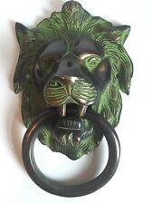 Antique Vintage Large Lion Door Knocker Victorian Towel Hanger 19 x 11.5 cms