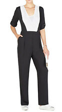 "$268 BCBG BLACK ""KAILAN"" COLOR BLOCKED LONG SLEEVE JUMPSUIT PANTS DRESS NWT 2"