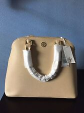 NWT Tory Burch Open Dome Robinson 33648 Toasted Wheat $550 100% Authentic.