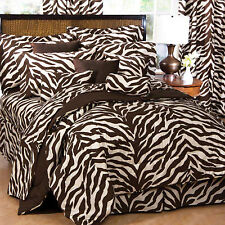 Karin Maki Brown Zebra Print Twin Comforter and Pillow Sham