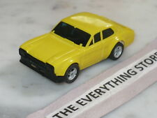 VINTAGE AURORA AFX HO SLOT CAR FORD ESCORT LEMON YELLOW SOLID BASE COLOR