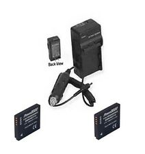 2 Batteries + Charger for Panasonic DMCFX48 DMC-FX48S DMC-FX550 DMC-FX48W
