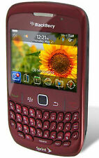 Sprint BlackBerry Curve RED NEW 8530 Smartphone Cell Phone WIFi GPS