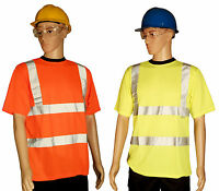 Hi-Viz Vis Visibility T Shirt Yellow Orange Tee Shirt S M L XL XXL 3XL 4X
