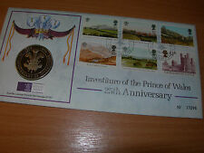 1994 Prince of Wales ROYAL MINT COIN Cover Carnarfon H/S - Medalion insert