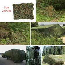 Netting 2x3m Hunting Camping Military Camouflage Net Woodlands Leaves Camo U1S9