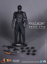 "HOT TOYS G.I. Joe Retaliation SNAKE EYES 12"" 1/6 Scale Figure Movie Black Ninja"