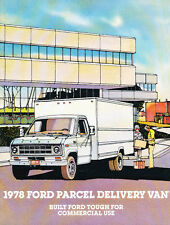 1978 Ford Parcel Delivery Cargo Box Van Original Sales Brochure Catalog
