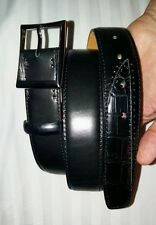 Berluti Belt with scar and real crocodile patch size 95cm