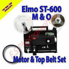 ELMO ST-600 M-O Super 8mm Cine Projector Drive Belts Set of 2