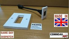 HDMI 1080 Data 4k Grid Outlet Module Coupler Tailed Fly Lead Female Audio Visual