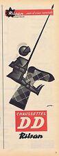 PUBLICITE ADVERTISING 035 1957 RILSAN chaussettes DD