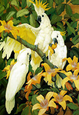Jessie Arms Botke Sulphur - Crested Cockatoos A3 Art Poster Print