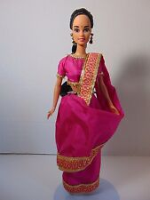 Vtg India Barbie Dolls of the World 1996 Loose w/ Sari Shawl Costume