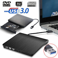 USB 3.0 External CD/DVD-RW Burner Writer Hard Drive for Win 8 7 PC Laptop Mac