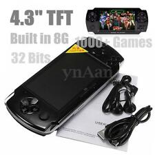 4.3 inch Screen 8G 32 Bit Portable 1000+ Retro Games Handheld Game Console Black