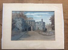 Firmato Acquerello Arundel Castle West Sussex Oliva Atherton di frensham Surrey