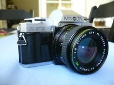 MINOLTA X-370 35mm Film Camera w/HANIMEX Auto MC f2.8 28mm Wide Angle Lens