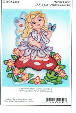 SPRING  FAIRY  Wall Hanging   plastic canvas  PATTERN    (#592)