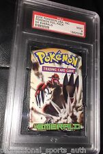 PSA 9 MINT EX EMERALD Booster Foil Pack GROUDON Artwork Pokemon