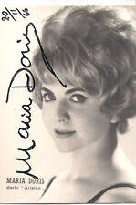 MARIA DORIS  AUTOGRAFO ORIGINALE  DATATO  1966 CANTANTE LA FINTA TONTA