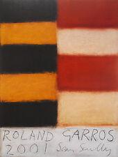 SCULLY SEAN AFFICHE ROLAND GARROS 2001 SIGNÉE EXCELLENT ÉTAT SIGNED POSTER
