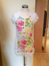Jean Gabriel Tunic Top Size14 Cream Pink Yellow Print BNWT RRP £103 Now £36