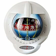 NAUTOS 25487 - CONTEST 101 COMPASS- MOUNT INCLINED -WHITE COMPASS WITH RED CARD