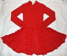 NWT Eliane Et Lena Roza Red Knit Ruffle Twirl Dress 10 Yrs.