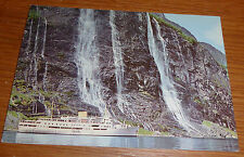 "Vintage Tourist Vessel Passing Waterfall ""The Seven Sisters"" Postcard"